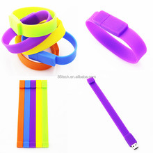 Promotional custom silicone bracelet usb flash drive wristband pen drive 32GB memory stick