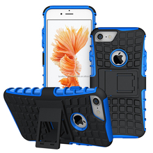 Heavy Duty Shockproof Dual Layer Hybrid Armor Defender Case Full Body Protective Cover for iphone 7
