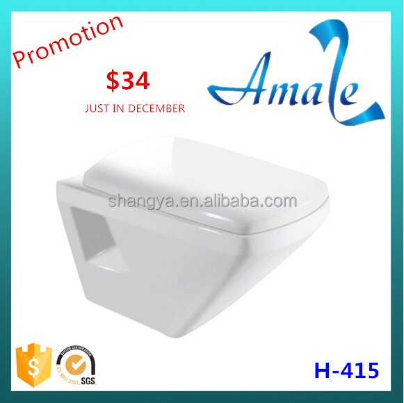 European cheap ceramic toilet wall hang, wall hung toilet,wall hung toilet dimensions #H-415
