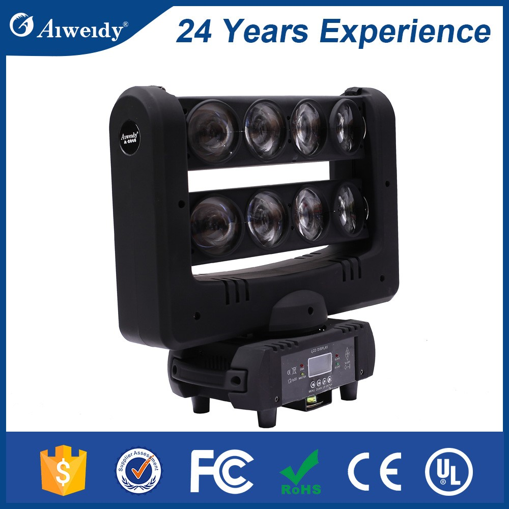 stage lights led intelligent equipment bar beam rgbw spider moving head led 8x10w spider beam moving head light