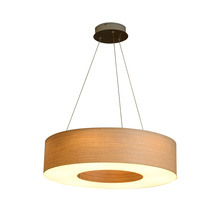 High quality hotel decoration round wooden led pendant light fixtures
