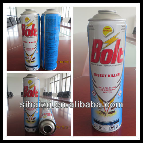 insecticide spray empty can/manufacturer
