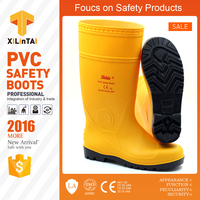 Low Price Yellow PVC Gum Working Boots