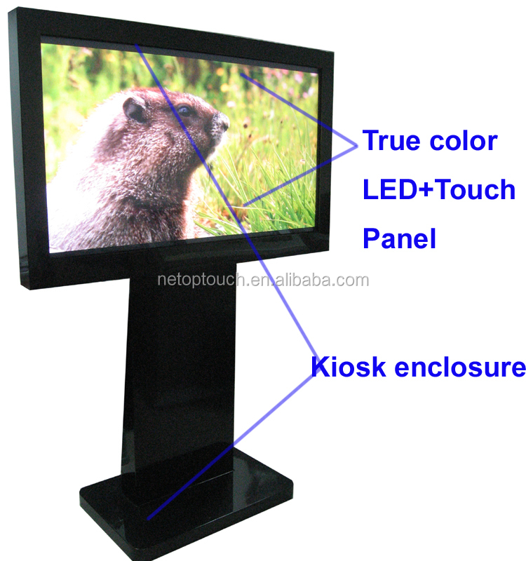 55'' touch screen interactive multimedia kiosk