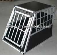 High quality Alu+MDF Big Single-door dog cage with ellipse tube