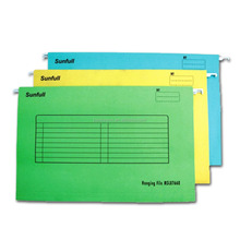 Colorful A4 hanging suspension file folder