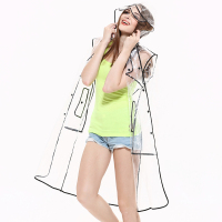 2016 latest design New style primark raincoats clear EVA rainboot ladie transparent long pvc raincoat clear raincoat