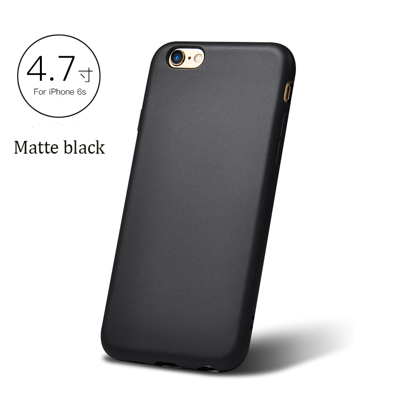 DFIFAN Black Back Cover 1.4 mm thickness for iphone 7 8 , Matte Mobile Phone Case for apple iphone 7 plus