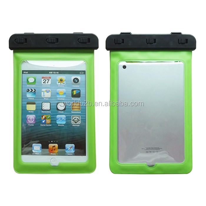 3 meter swimming waterproof pvc pouch for ipad mini