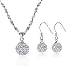 Sterling Silver Jewelry Sets Necklace & Earrings Fashion Jewellery Set