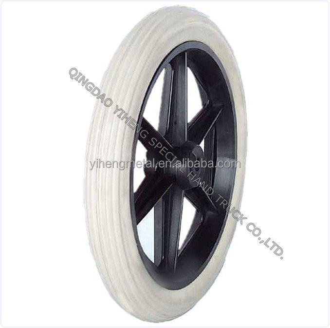 10 inch pu foam wheel 10 x2, solid epispastic wheel