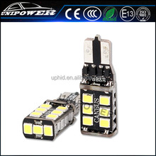 Hot sell led t10 15-SMD-2835 7.5W led for car, car led bulb canbus Built-in Load Resistors For European car, led car bulb