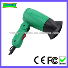 Foldable handle wall mounted hotel hair dryer