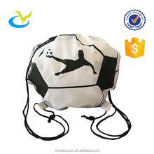 Stylish heat transfer printed waterproof football novel drawstring backpack bag