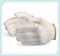 T/C 30/70 knitted cotton gloves safety gloves,Knitted Bleach White Cotton Safety Gloves