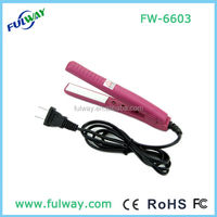 Mini travel electric flat iron hair straightener