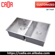Special Customized 304 Stainless Steel Twins Sink Bowl