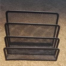 Quality Assurance desk organizer metal mesh file holder