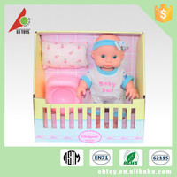 9.5 Inch suits cute baby toy silicone child doll