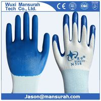 Hot Product Good Quality Portable Work Gloves Cotton+PVC Safety Gloves Industrial Work Gloves Fast Delivery