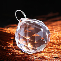 Crystal round shaped beads glass crystal hanging lamp decorations