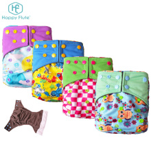 Happy flute organic bamboo baby cloth diapers pocket reusable diaper