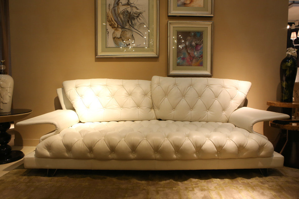 Italian luxury modern Leather Sofa living room