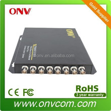 OEM 8 Channel Video Fiber Optic Transmitter and Receiver for factory and offices safety production system