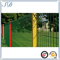 Fine vinyl coated decorative garden border chain link fence