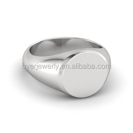 Genuine 925 Sterling Silver Mens/Boys Plain Oval Signet Ring