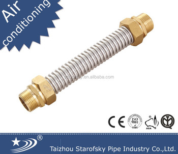 Air condition SS flexible hose +brass fitting