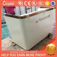 China manufacturing New style wooden cashier counter / wooden cash counter for retail store / minimart cash counter