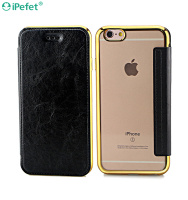 360 Protect Flip Cover PU Leather+ TPU Material Smart Case Cover for iPhone