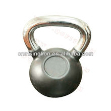 Cast Iron kettlebell / Rubber Cover and Chrome Handle kettlebell