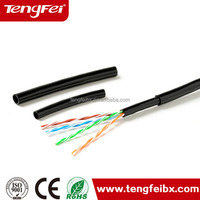 Self Supporting Cat5e Outdoor With Messenger Steel Wire Lan Cable