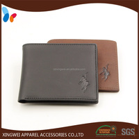 fashion blocking genuine men leather wallet with card holders