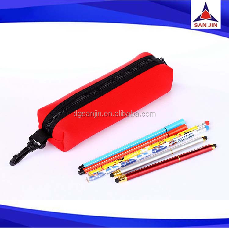 Plastic beautiful and new design neoprene pencil case bag