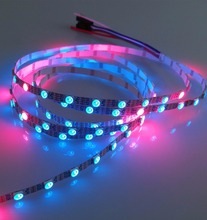 Addressable 4m 60LEDs/m 5.5mm wide pcb DC5V WS2813 RGB led pixel strip,NON-waterproof,with 60pixels/M;WHITE PCB;IP33
