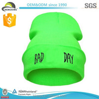 Nylon color custom embroidered ski beanie cool fashion beanie hats