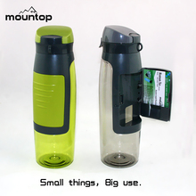 New shape bpa free sport water bottle plastic sports flexible water bottle custom logo