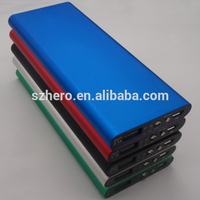 Wholesale slim hot sale mini portable power bank with led light