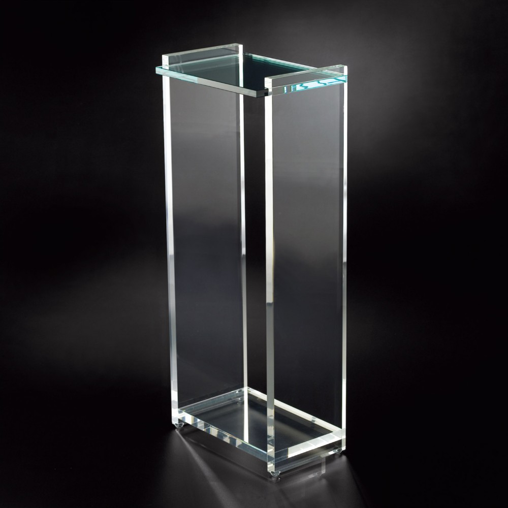 Clear acrylic pedestal lucite pedestal buy acrylic for Where to buy lucite
