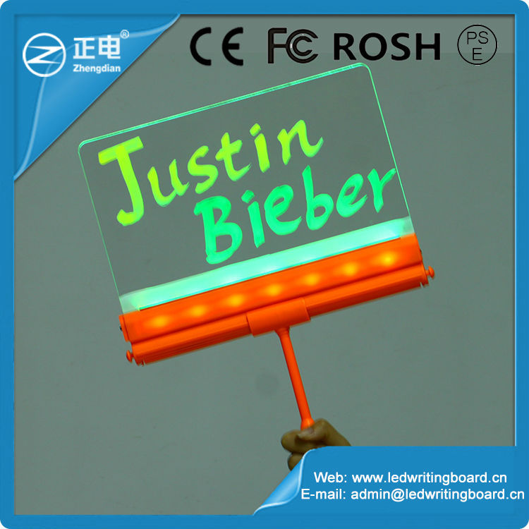 Best selling unique products 16 flashing plastic frame led sign white board with marker pen led names board display