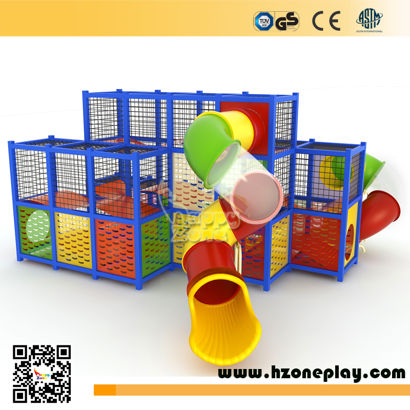 Outdoor landscape structures kids adventure Steel frame open air holla wall theme big playground equipment for children