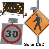 Solar LED Factory manufacture popular traffic control sign