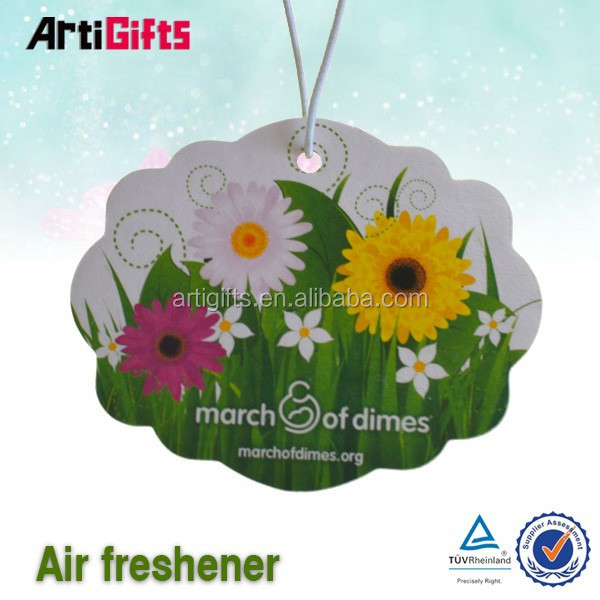 Promotion cheap custom car fragrance air freshener cardhanging car fragrance