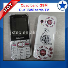 Hot Selling Dual SIM 4 bands mobile Phone with TV Q7