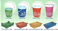 Used injection moulds for crates and buckets