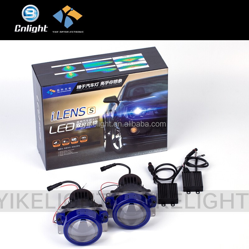 Yike Cnlight 2016 New Arrival 10-18V 5500K 3 inch universal bi-led xenon projector headlight for honda city