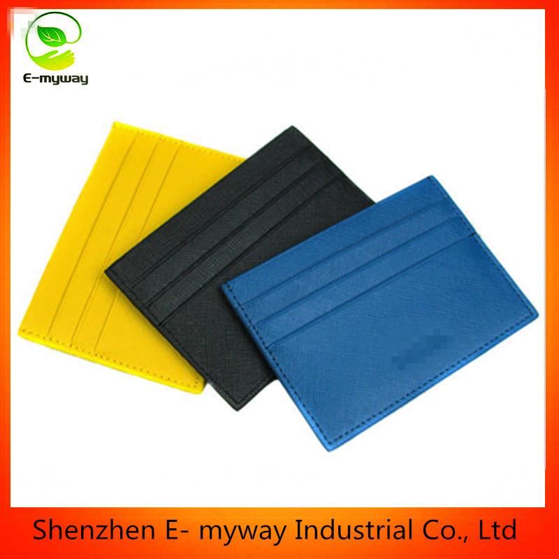 Wholesale Classic Pocket Size Genuine Leather Business Credit Card Holder/Case/Cover